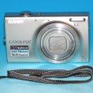 Nikon COOLPIX S6100 16.0MP Digital Camera - Silver #0694