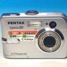 Pentax Optio 50 5MP Digital Camera - Silver