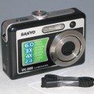 Sanyo Xacti VPC-S600 6.0MP Digital Camera - Black #1064