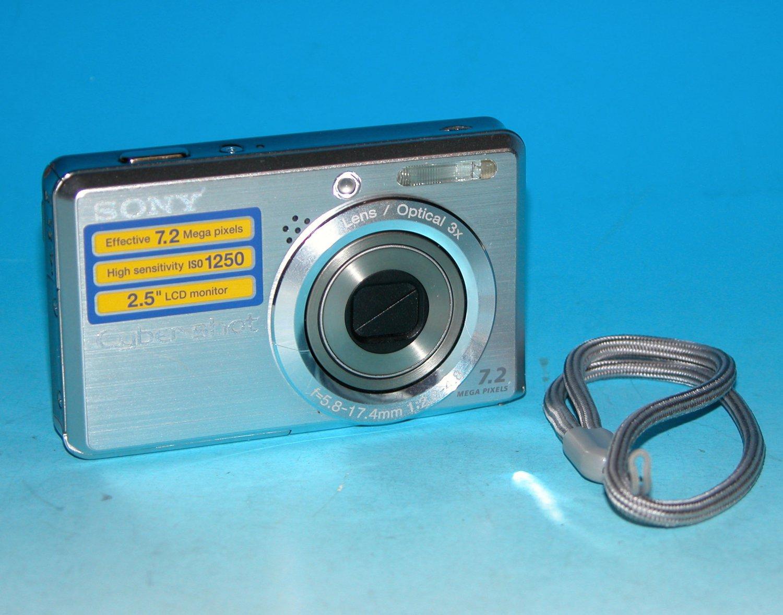 Sony Cyber-shot DSC-S750 7.2MP Digital Camera - Silver #4533