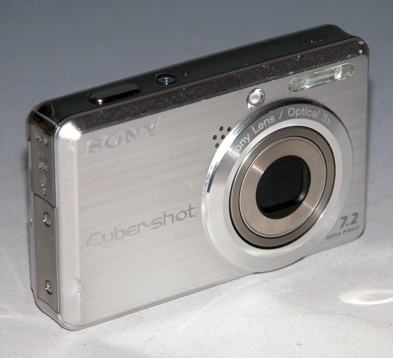 Sony Cyber-shot DSC-S750 7.2MP Digital Camera - Silver #9833