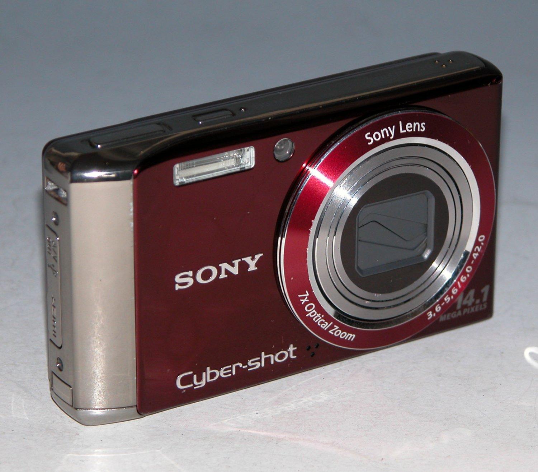 Sony Cyber-shot DSC-W370 14.1MP Digital Camera - Red  #7578