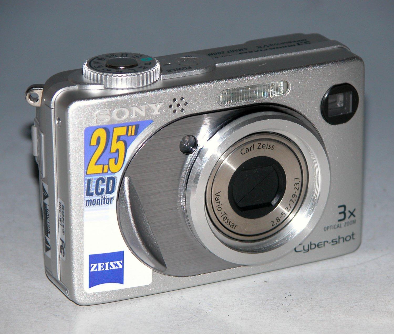 Sony Cyber-shot DSC-W1 5.1MP Digital Camera - Silver #8946