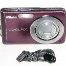 Nikon COOLPIX S210 8.0MP Digital Camera - Plum #0353