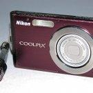 Nikon COOLPIX S210 8.0MP Digital Camera - Plum #3638