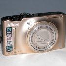 Nikon COOLPIX S8100 12.1MP Digital Camera - Gold  #6781