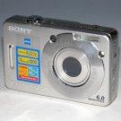 Sony Cyber-shot DSC-W50 6.0MP Digital Camera - Silver #5133