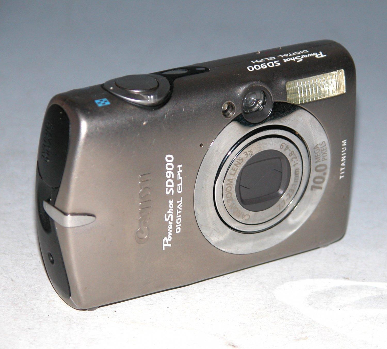 Canon PowerShot Digital ELPH SD900 Titanium 10MP Digital Camera #1665
