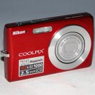 Nikon COOLPIX S200 7.1MP Digital Camera - Red #6338