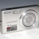 Nikon COOLPIX S200 7.1MP Digital Camera - Silver #3635