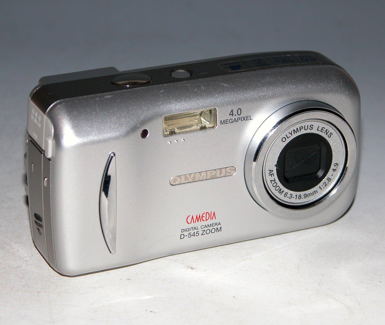 Olympus CAMEDIA D-545 4.0MP Digital Camera - Silver  #9507