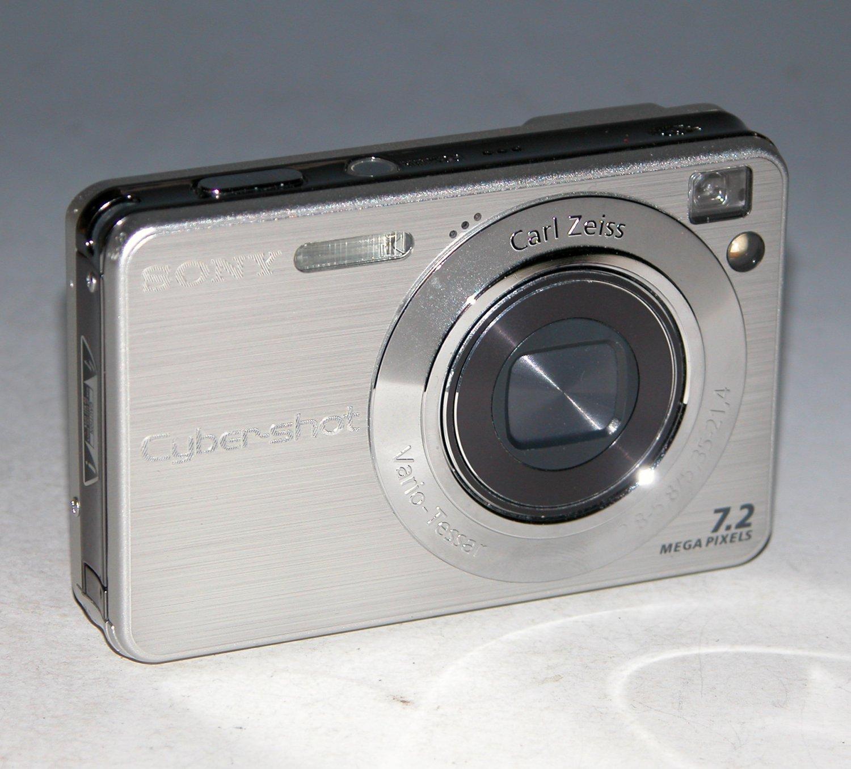 Sony Cyber-shot DSC-W120 7.2MP Digital Camera - Silver #7844
