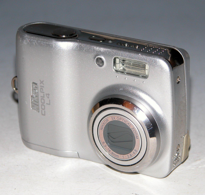 Nikon COOLPIX L4 4MP Digital Camera - Silver #4047