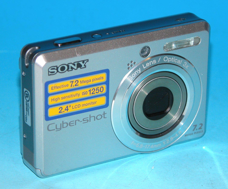 Sony Cyber-shot DSC-S730 7.2MP Digital Camera - Silver #1681