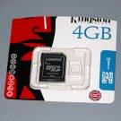 Kingston 4GB microSDHC Class 4 Memory Card