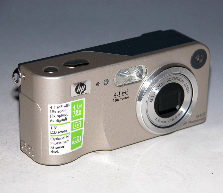HP PhotoSmart M407 4.0MP Digital Camera - Silver #5G5V