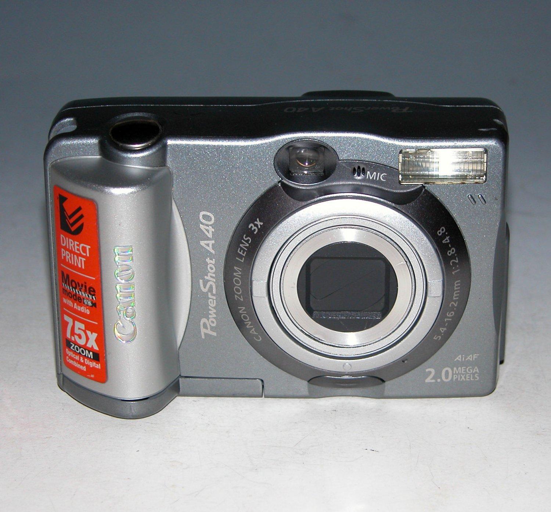 Canon PowerShot A40 2.0MP Digital Camera - Silver #6440