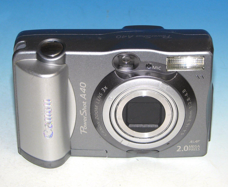 Canon PowerShot A40 2.0MP Digital Camera - Silver #8903