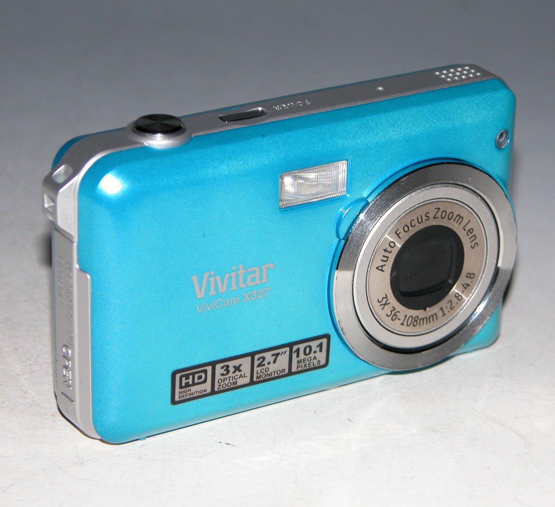 Vivitar Vivicam X327 10.1MP Digital Camera - Blue