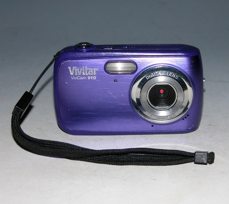 Vivitar Vivicam 9112 9MP Digital Camera - Purple
