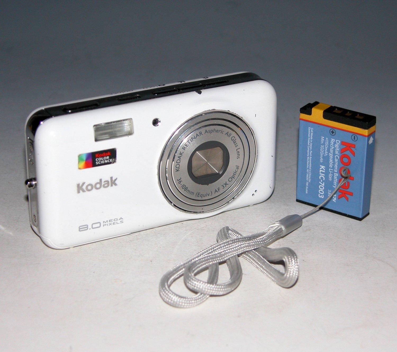 Kodak EasyShare V803 8.0MP Digital Camera - White #1873