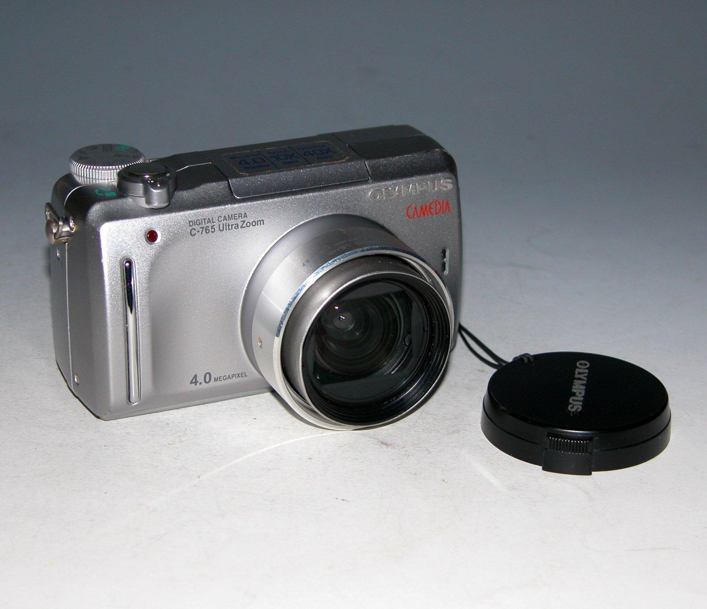 Olympus CAMEDIA C-765 Ultra Zoom 4.0MP Digital Camera - Silver #3216