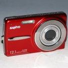 Sanyo VPC-X1200 12.1MP Digital Camera - Red  #3321
