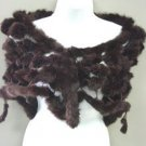 Brown Rabbit Fur Shawl