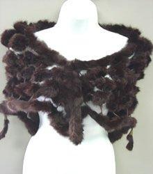 Brown Rabbit Fur Shawl