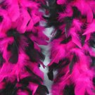 Pink And Black Feather BOA