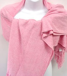 Light Pink Chenille Feel Shawl