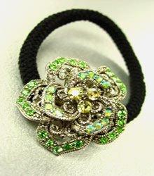 Green Rose Ponytail Holder 1HA2520225
