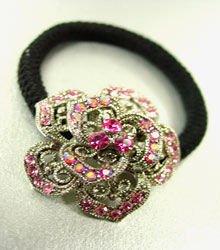 Pink Rose Ponytail Holder 1HA2520225