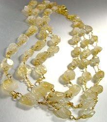 Natural Brown Quartz Stones Necklace 1N2579074