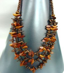 Natural Wood Beads Long Necklace 1N4002031