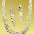 Silver Rhinestone Crystals Necklace Set 1N4001945