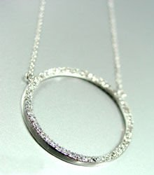 Sterling Silver Circle of Love Necklace 1N009189