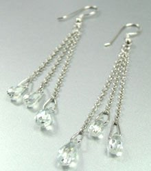 Clear Crystals Sterling Silver Earrings 1E4007063