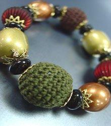 Multi Knit Beads Stretch Bracelet 1B0386378