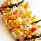 Natural Brown Stones Stretch Bracelet 1B0674555