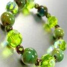 Green Glass Ceramic Beads Bracelet 1B1130758