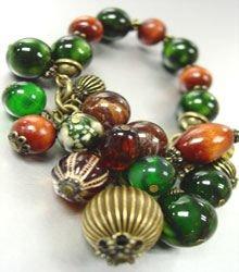 Natural Wood colorful Black Beads Bracelet  1B1333897
