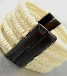 Natural Wood Beads Stretch Bracelet 1B2613526