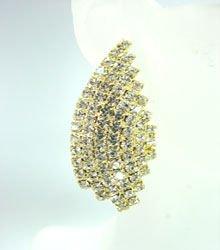 Gold Rhinestone Crystals Earrings 1E4001603