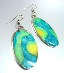 Colorful Resin Dangle Earrings 1E400392A