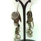Antique Silver Dangle Charms Earrings 1E1252502