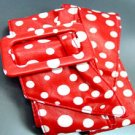 Red White Polka Dots Buckle Wrap Belt  1BTB0012433