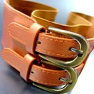 Orange Double Buckle Elastic Wrap Belt 1BTB1340626
