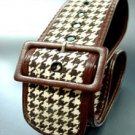 Brown Houndstooth Tweed Buckle Belt 1BTB13406262