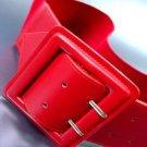 Red Wide Buckle Stretch Wrap Belt  1BTB1340626W